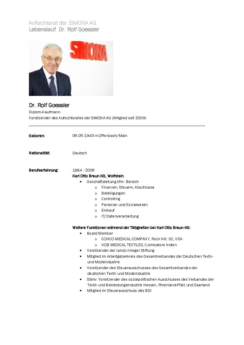 Vorstand und Aufsichtsrat | SIMONA AG